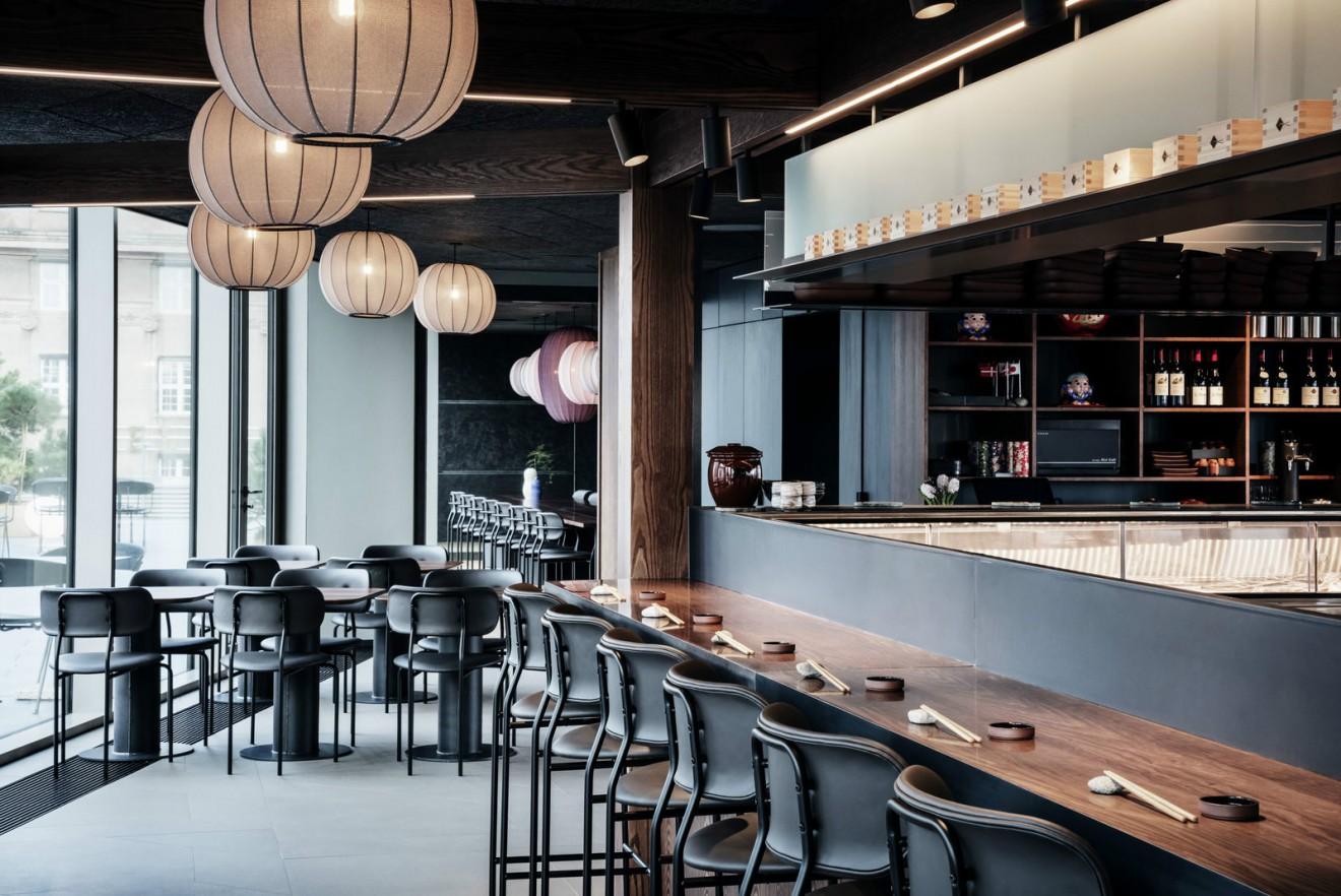 Coco stoel in Sushi Resturant in Tivoli Gardens Copenhagen  Victors Design Agency