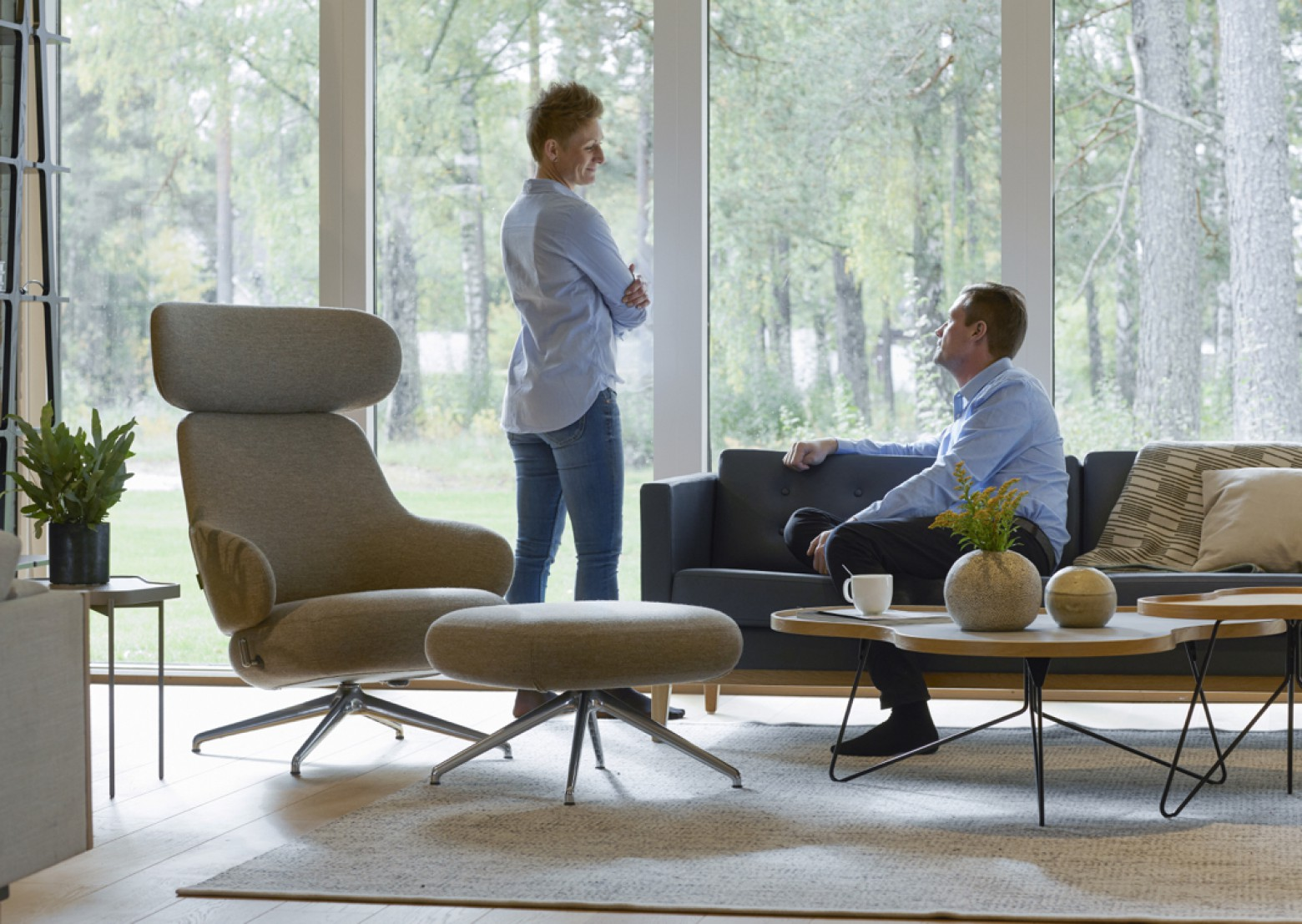 Pillo met hoge rug: royale lounger  Victors Design Agency
