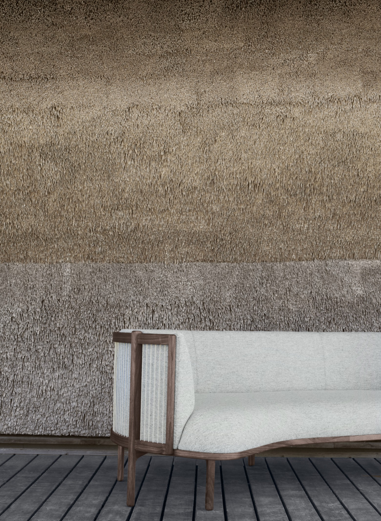 Detail van de Sideways sofa, design 2020. Rikke Frost  Victors Design Agency