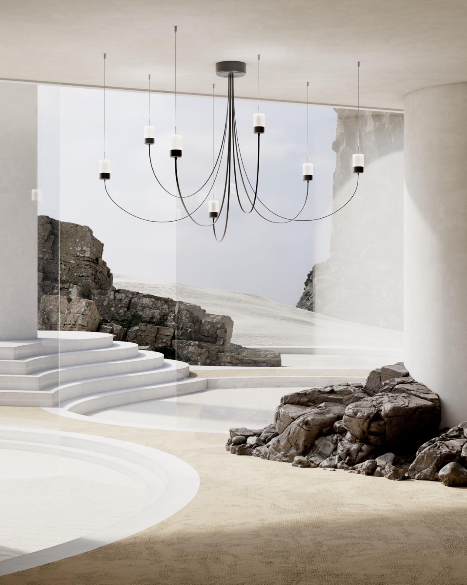 Gravity Chandelier 7 : un hommage aux lustres d'antan Victors Design Agency