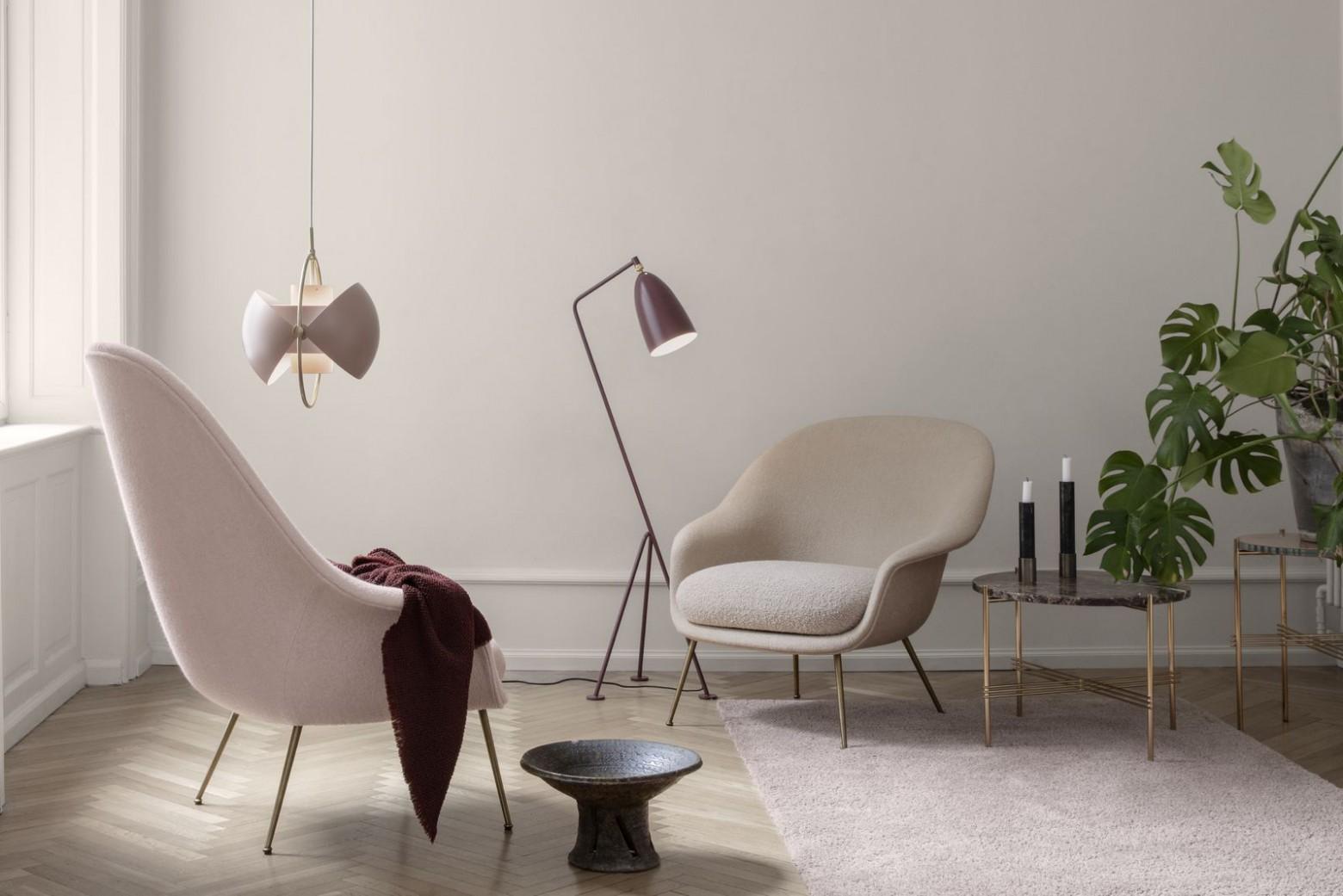 Bat Lounge met hoge rug en lage rug. GamFratesi design  Victors Design Agency
