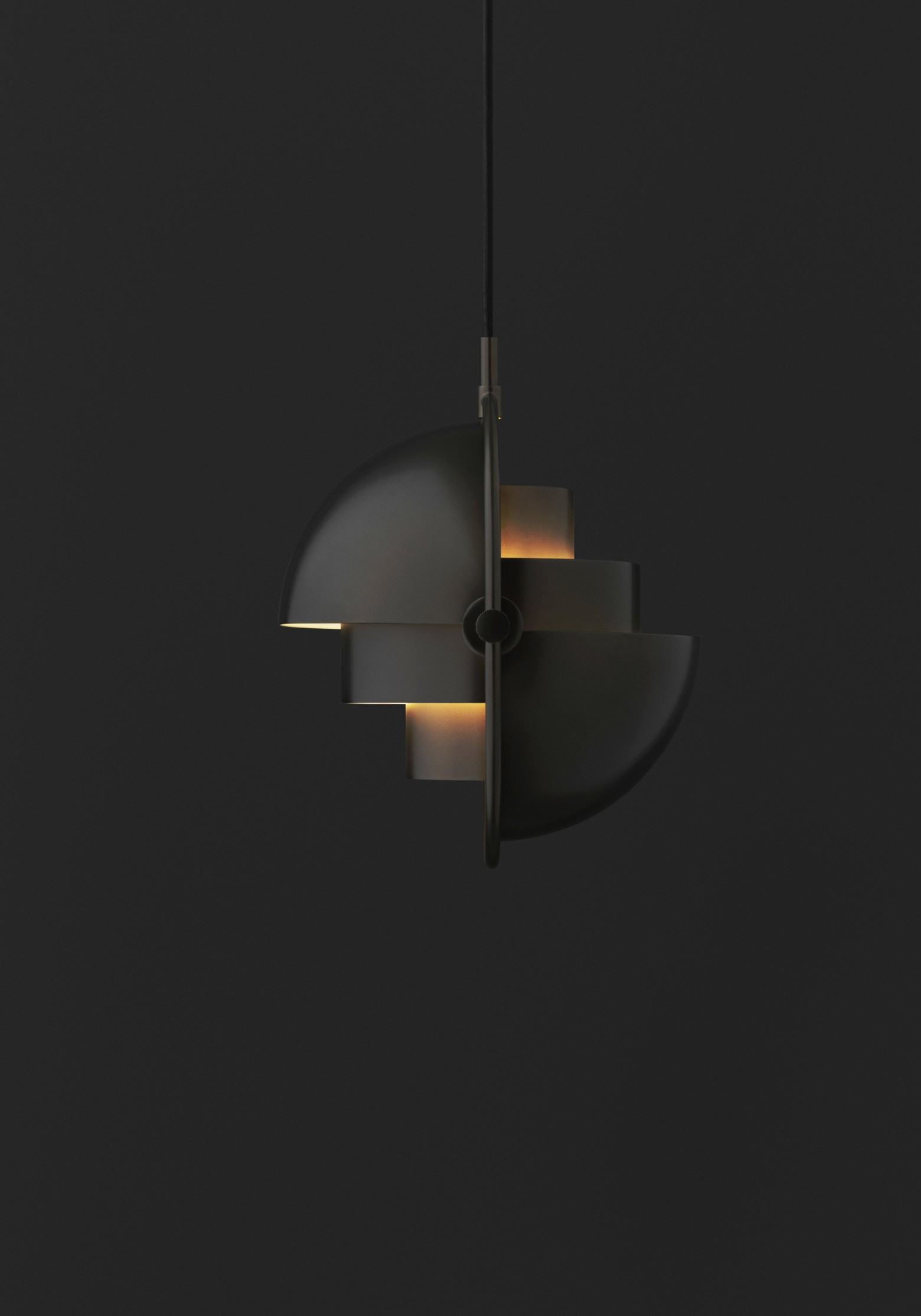 Suspension en laiton noir Multi-Lite (NOUVEAU) Victors Design Agency