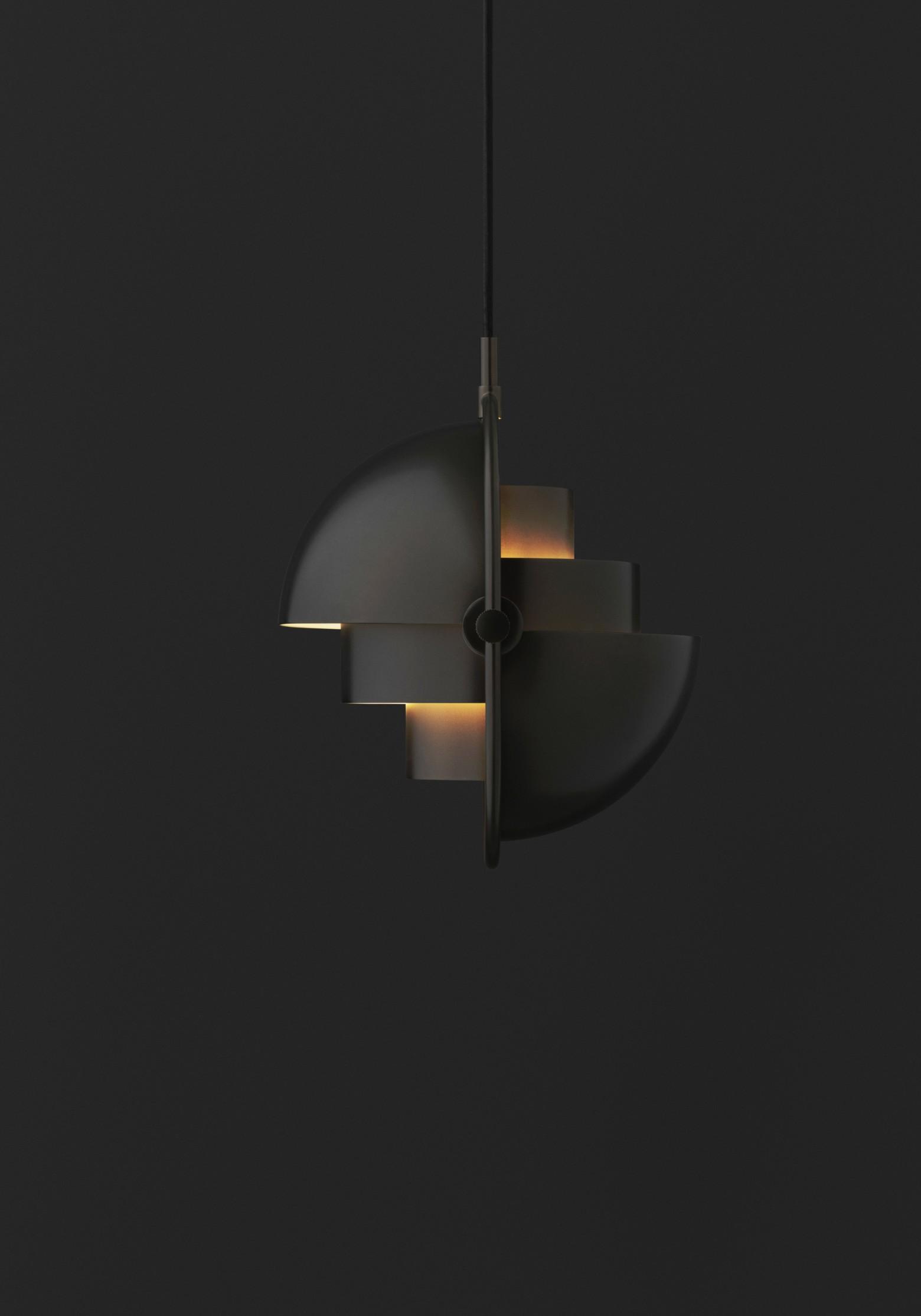 Multi-Lite Black Brass Pendant (NIEUW)  Victors Design Agency
