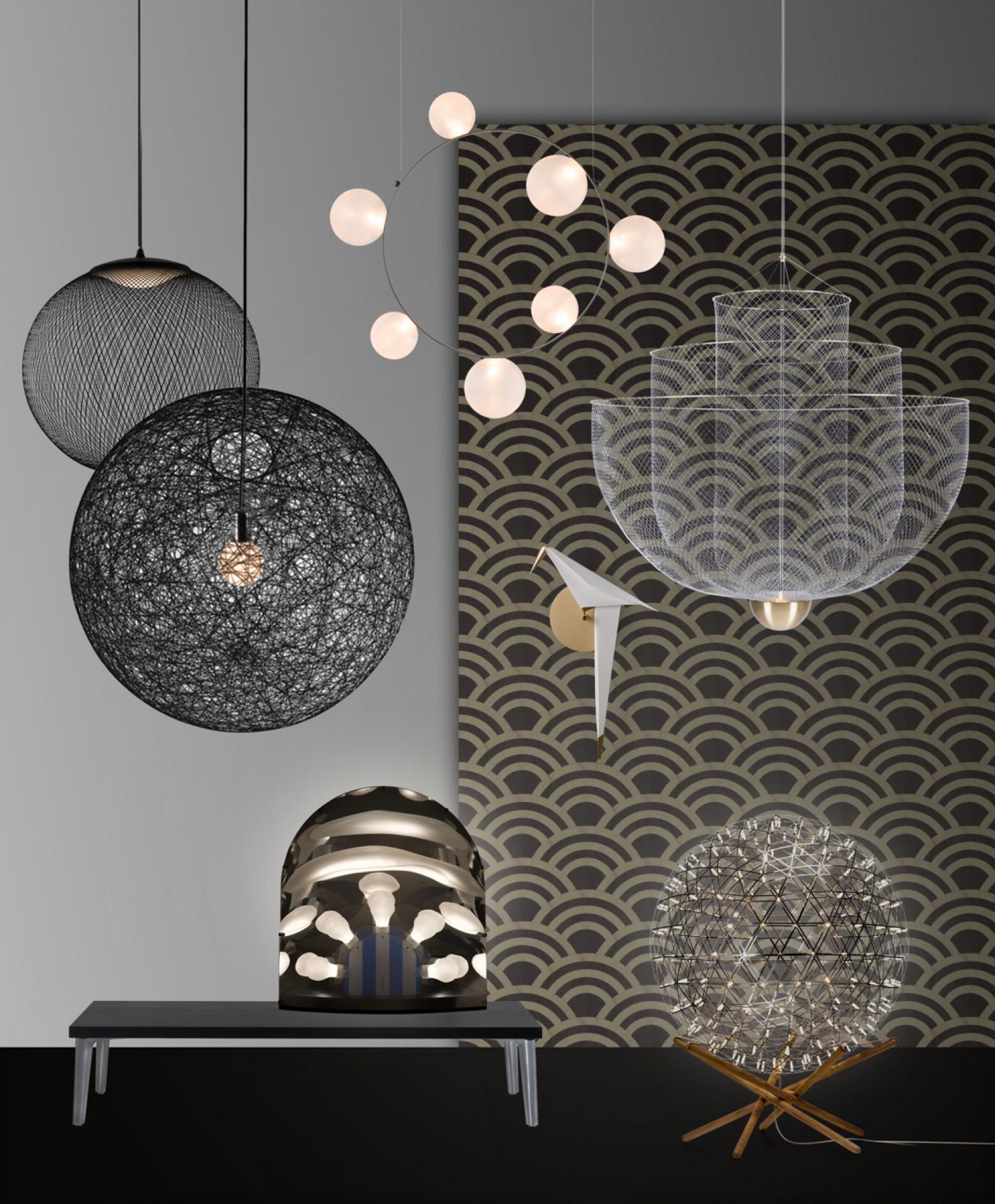 Een selectie van de best verkopende MOOOI toestellen: Random, NR2, Raimond, Perch en Meshmatics Victors Design Agency