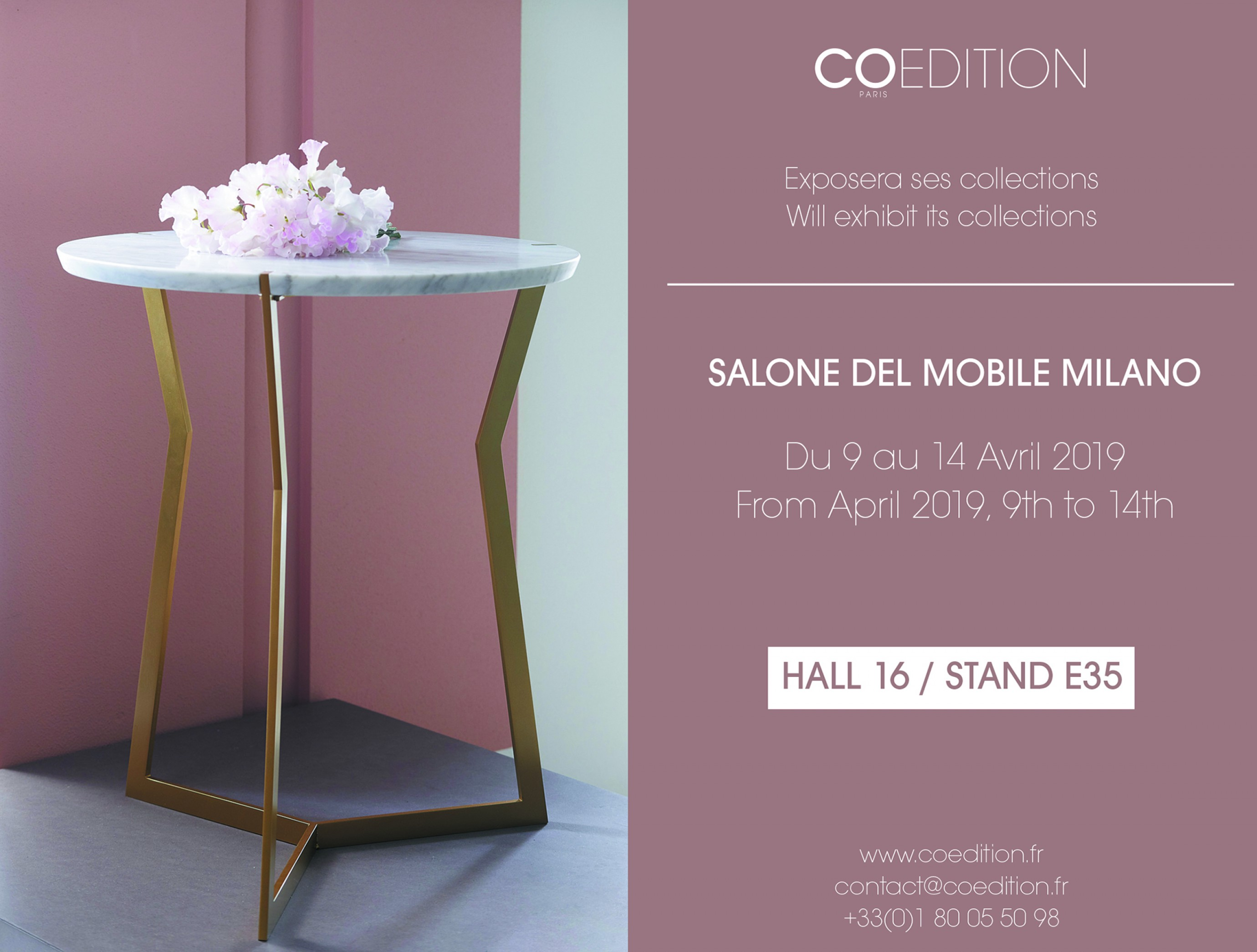 uitnodiging Milaan COedition: Hal 16 - Stand E35 Victors Design Agency