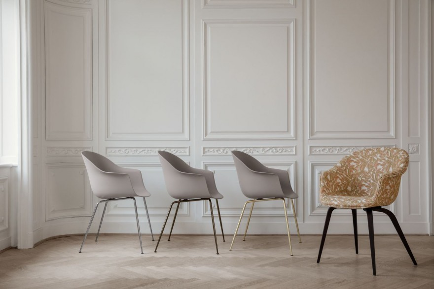 BAT Dining chair : verschillende onderstellen mogelijk