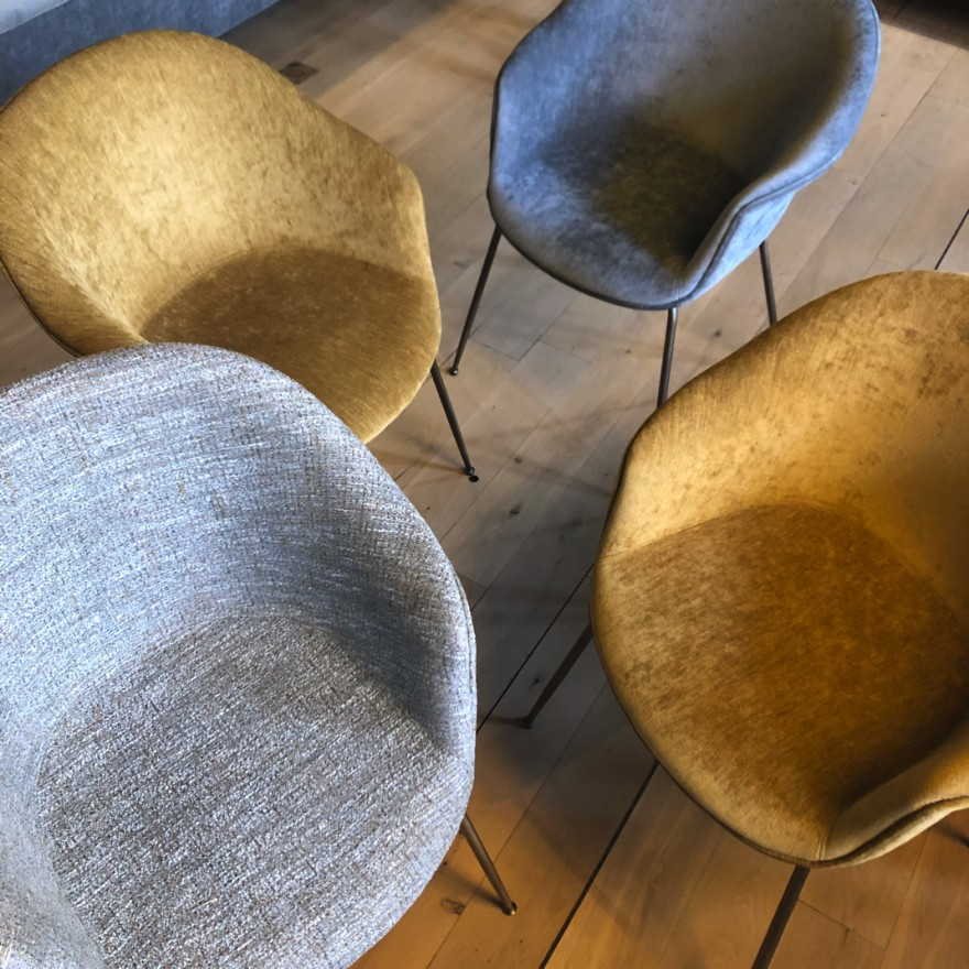 """Much to say about colours and textures"": Gubi Bat chairs"