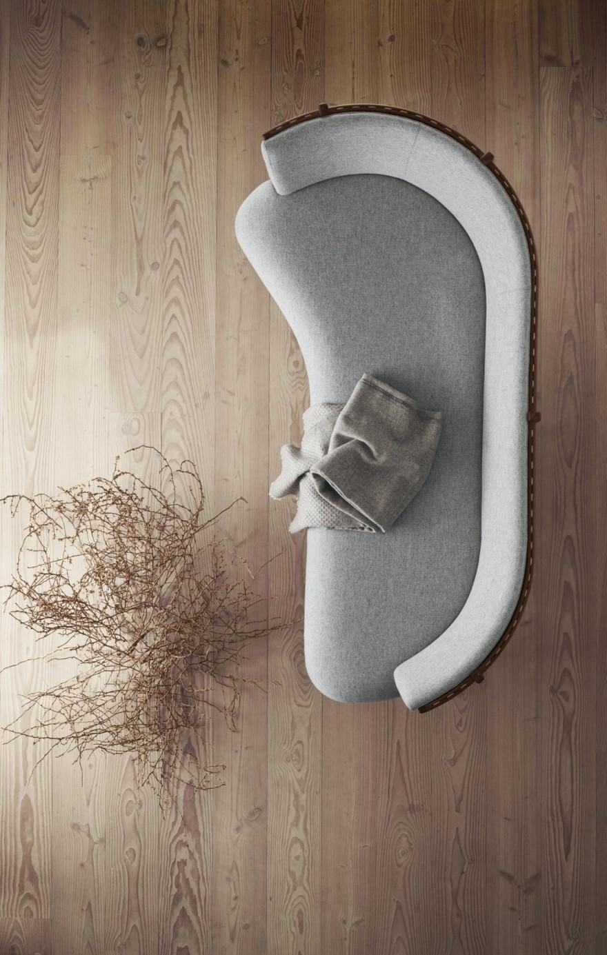 Bovenaanzicht van de Sideways sofa