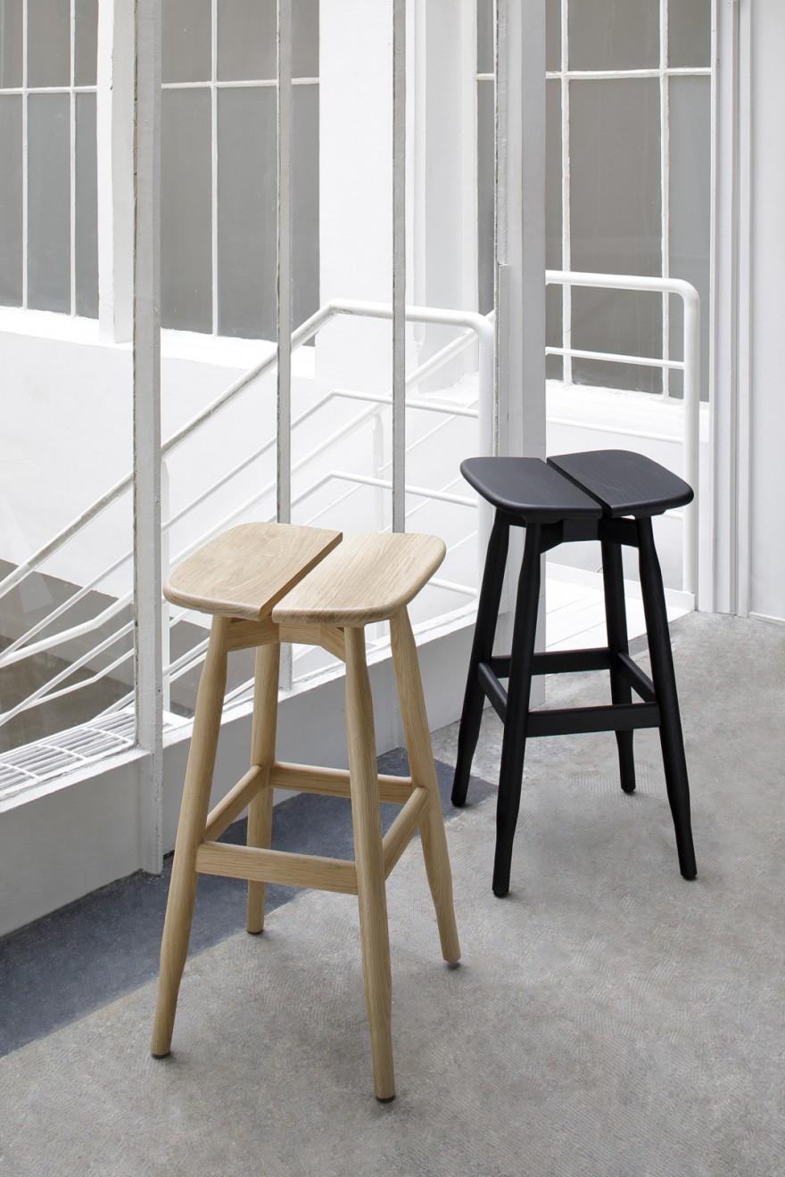 NIEUW: massief eiken barstoelen DOM, design archi. Marco Zanusso Jr.
