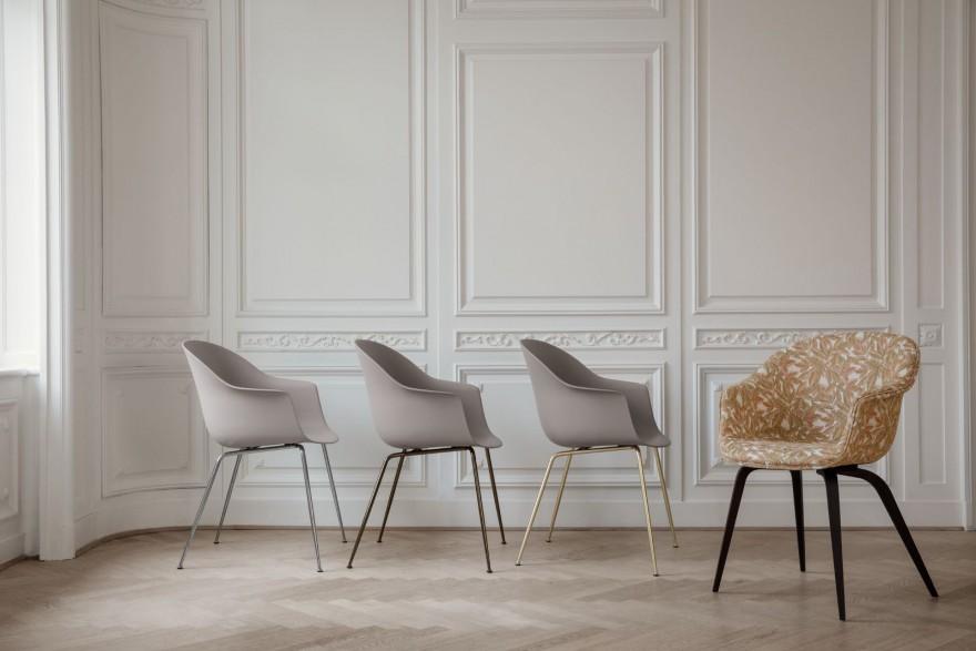 BAT eetkamer stoelen met verschillende onderstellen