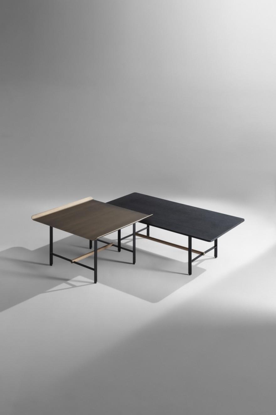 Sisters tafel rechthoekig (108 x 57 x H 35 cm) en vierkant (65 x 65 x H 40 cm)
