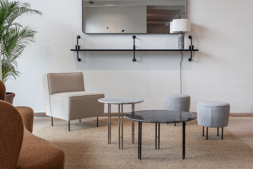 Modern Line - TS Lounge Tables - Dedal Shelf - Gravity lamp