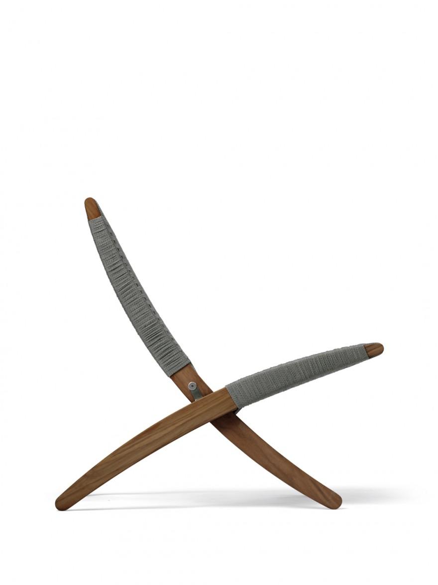 Zijaanzicht van de CUBA outdoor chair (plooibaar)