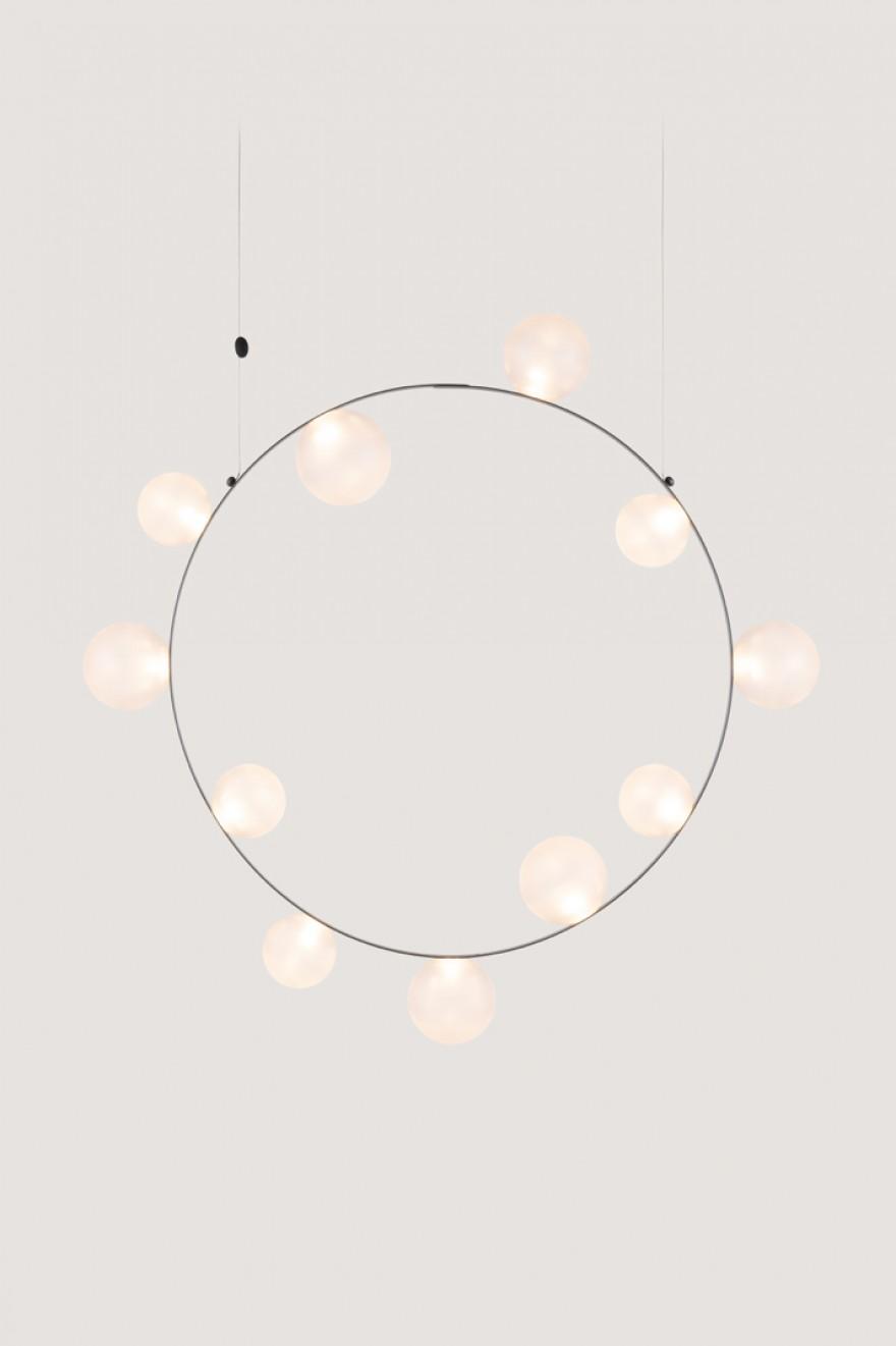 Version Hubble Bubble 11:  ronde mince centrale avec technique Electrosandwich