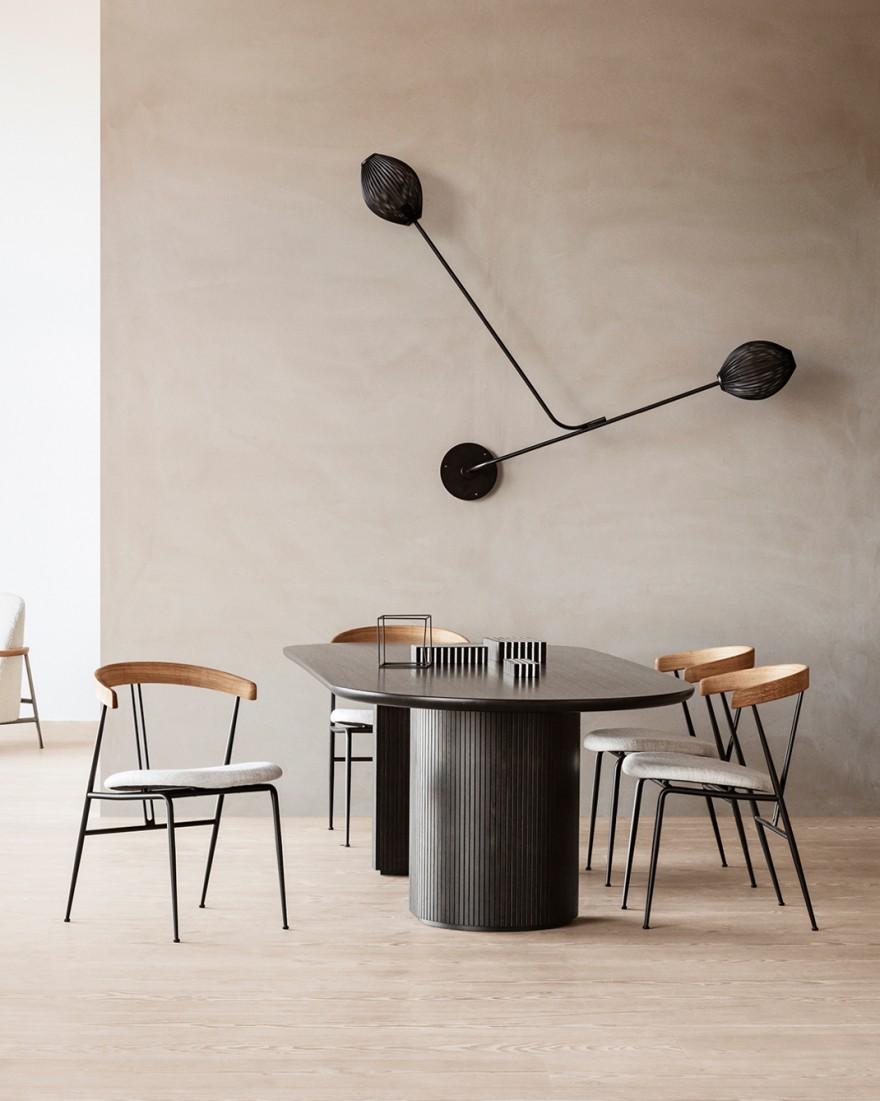 Violin stoel, Satelite Wall en Moon tafel, GUBI collectie