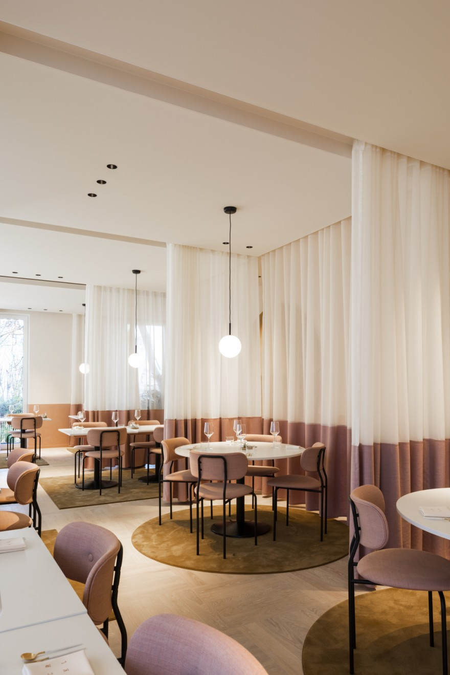 Round shape of Coco Dining Chair in the interior of CKRL resto in Belgium
