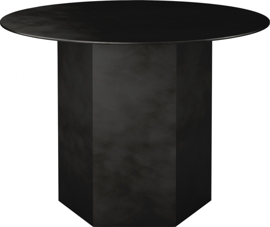 Epic stalen tafel in Midnight Black