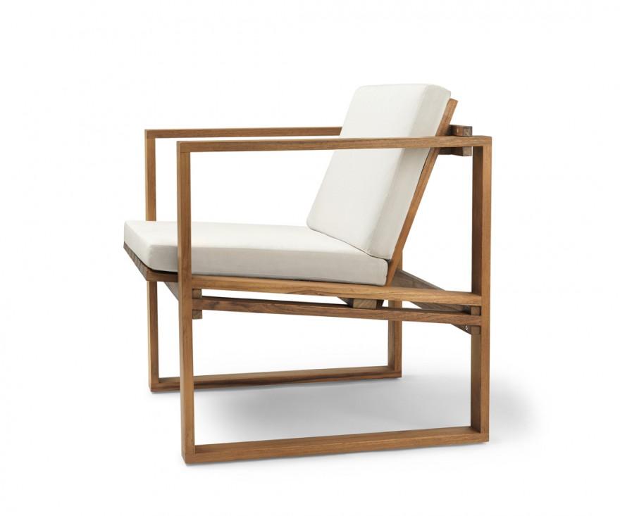 BK10 Dining Chair met Sunbrella canvas kussen