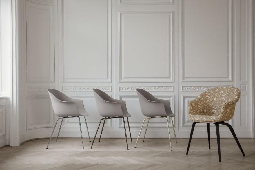 BAT dining chair: ook keuze uit diverse onderstellen...