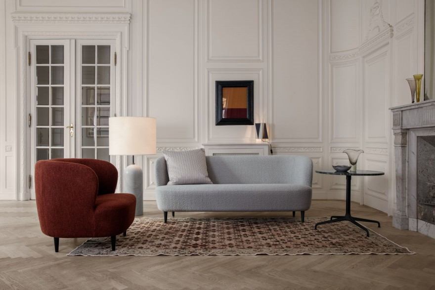 Stay Lounge - Stay sofa with legs - Gravity Floor lamp Low XL