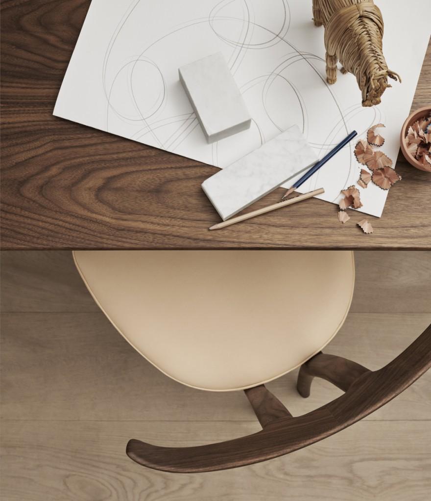 Bovenaanzicht T-chair