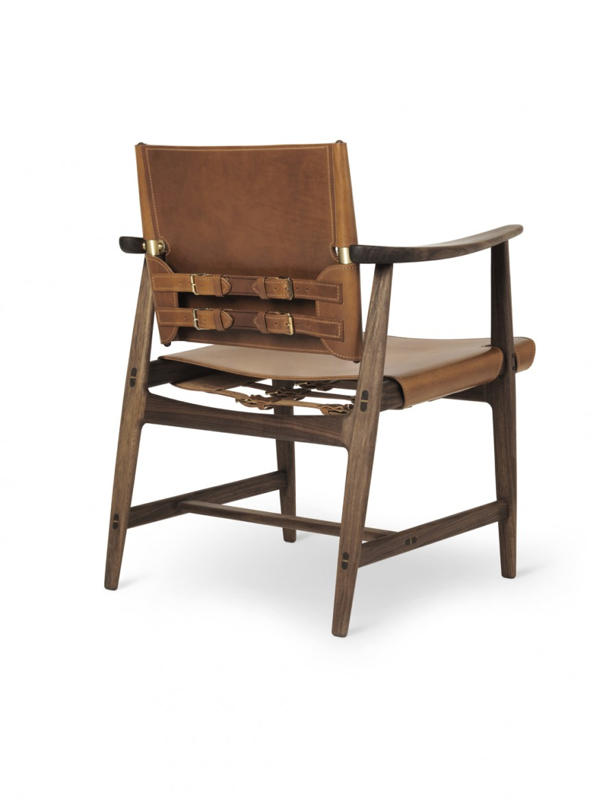 BM1106 Huntsman chair - walnut oil - cognac saddleleather