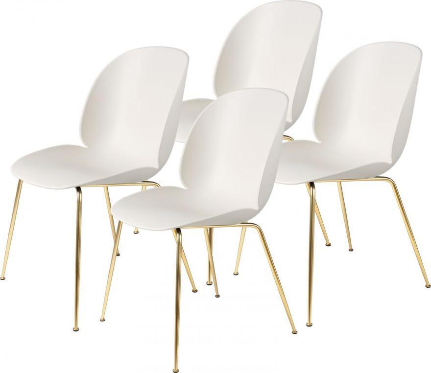 Beetle dining chairs met kunststof schelp