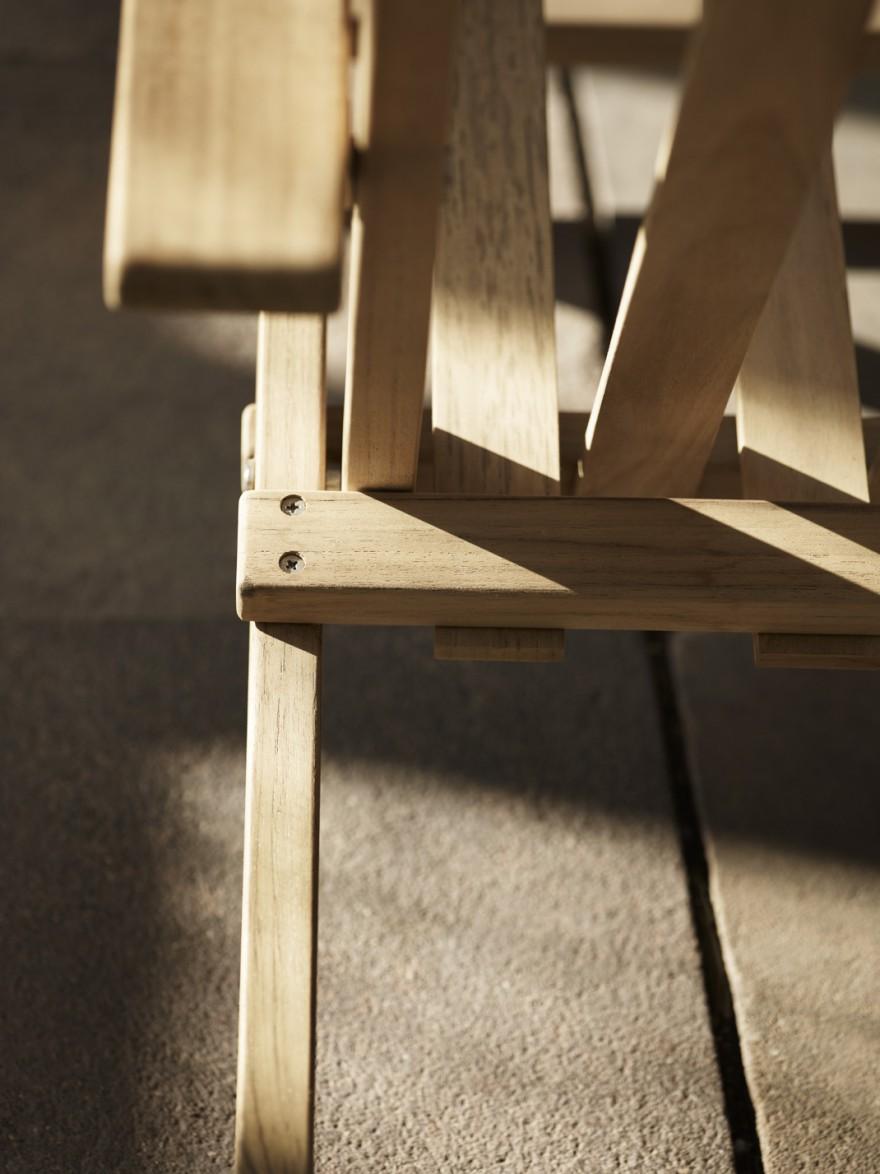 Detail van de Carl Hansen & Son outdoor Series ontworpen door Borge Mogensen