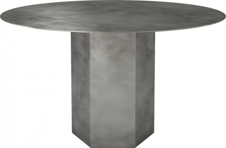 Epic stalen tafel in Misty Grey