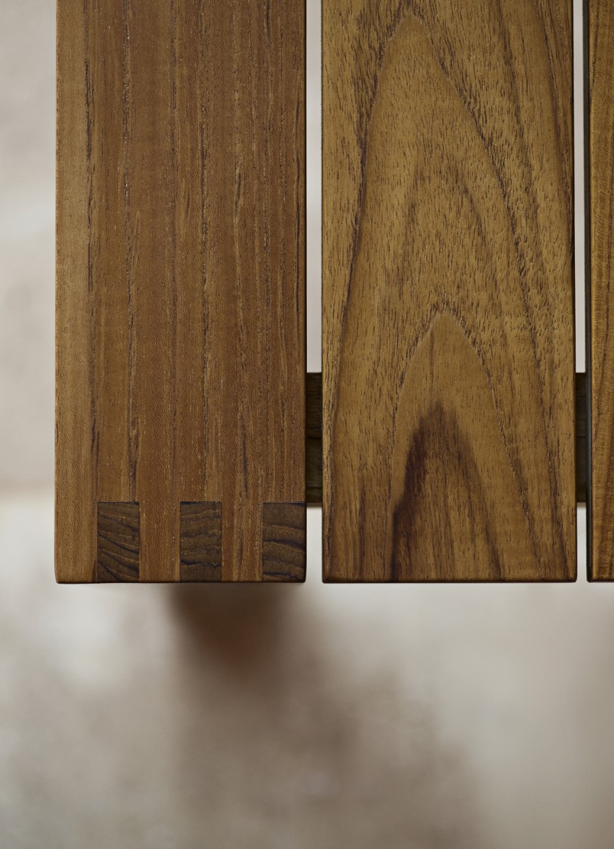 Detail outdoor meubelen teak, design: architecte Bodil Kjaer