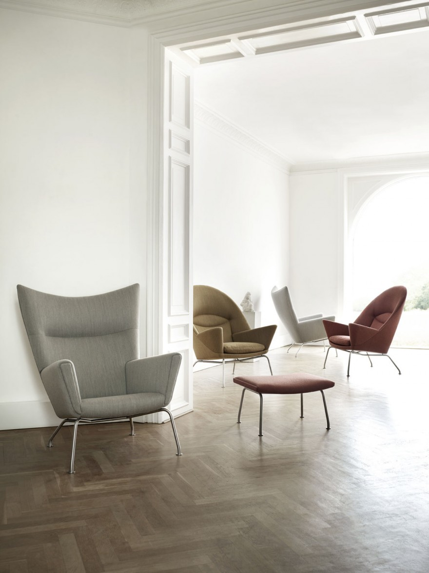 Wing Chair & Oculus Chair, Hans J Wegner, 1960, Carl Hansen & Son