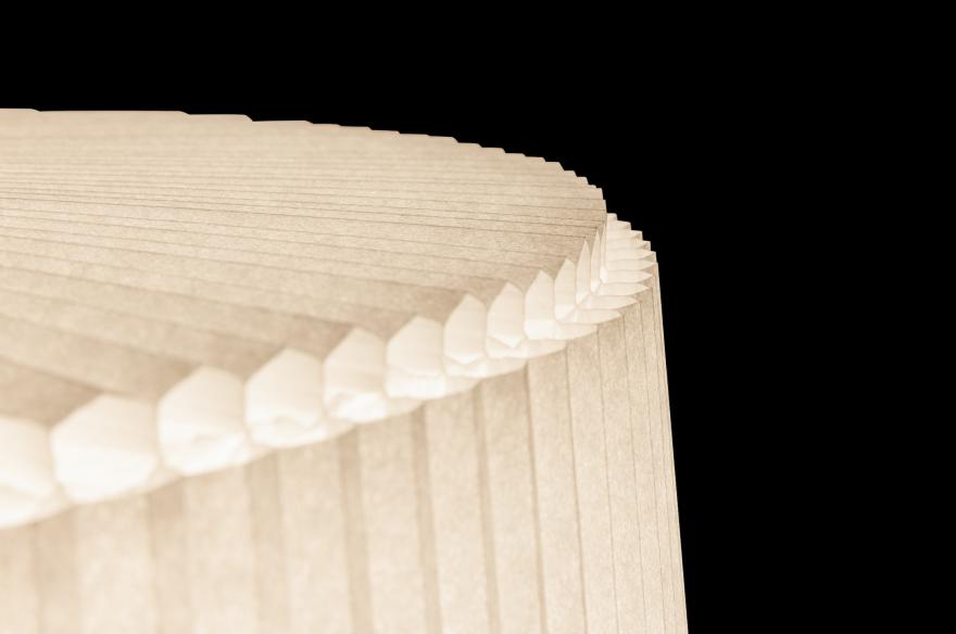 Detail van de Plié Plissé