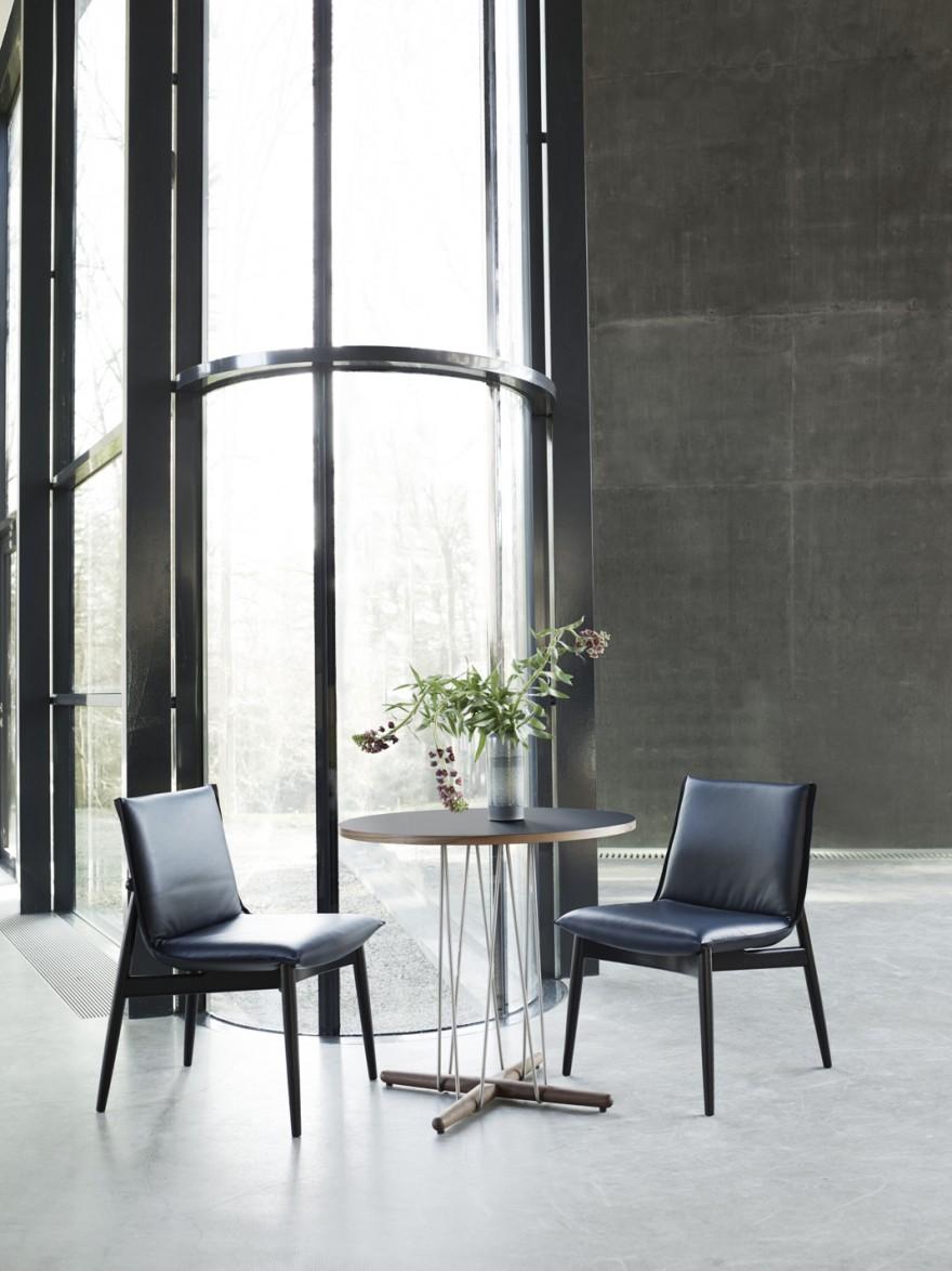 E021 Embrace  Lounge Table - ø48 cm et Embrace dining chair