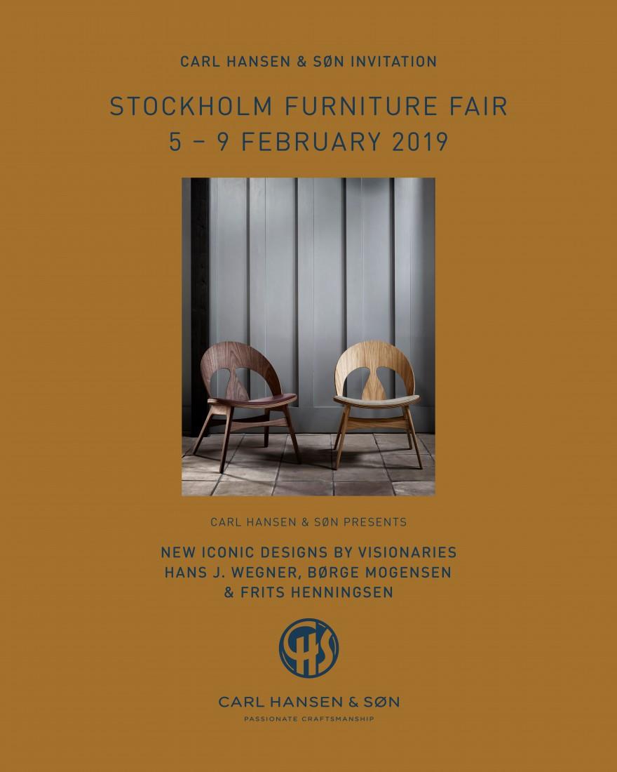 Nieuwe iconische creaties van Hans J Wegner, Borge Mogensen & Frits Henningsen @ Stockholm FF