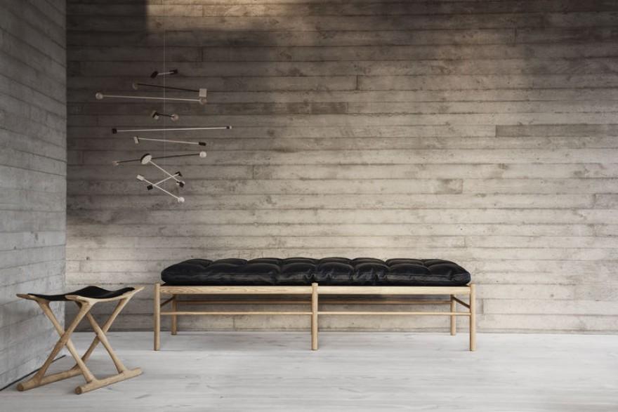 Egyptian chair & day bed : design van Ole Wanscher