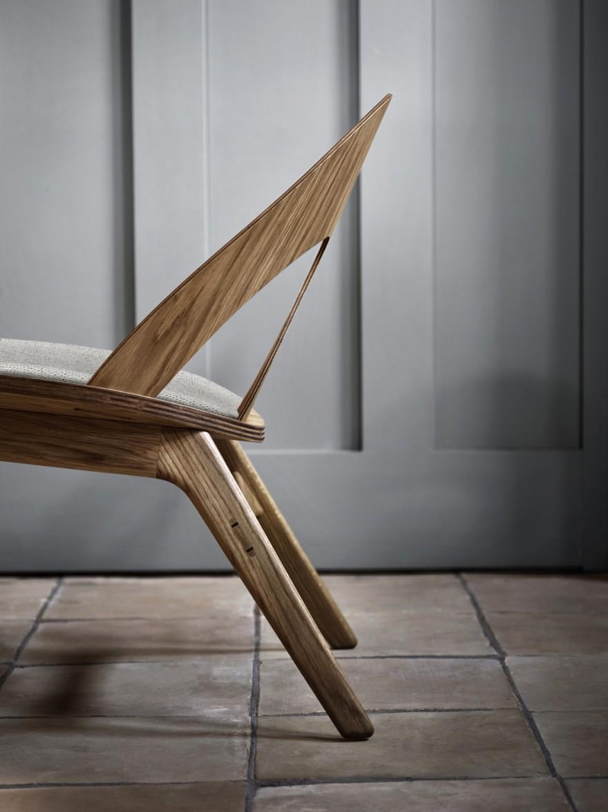 Ontwerp geispireerd op de nieuwe toepassing van fineer zoals Ray & Charles Eames in de VS deden...