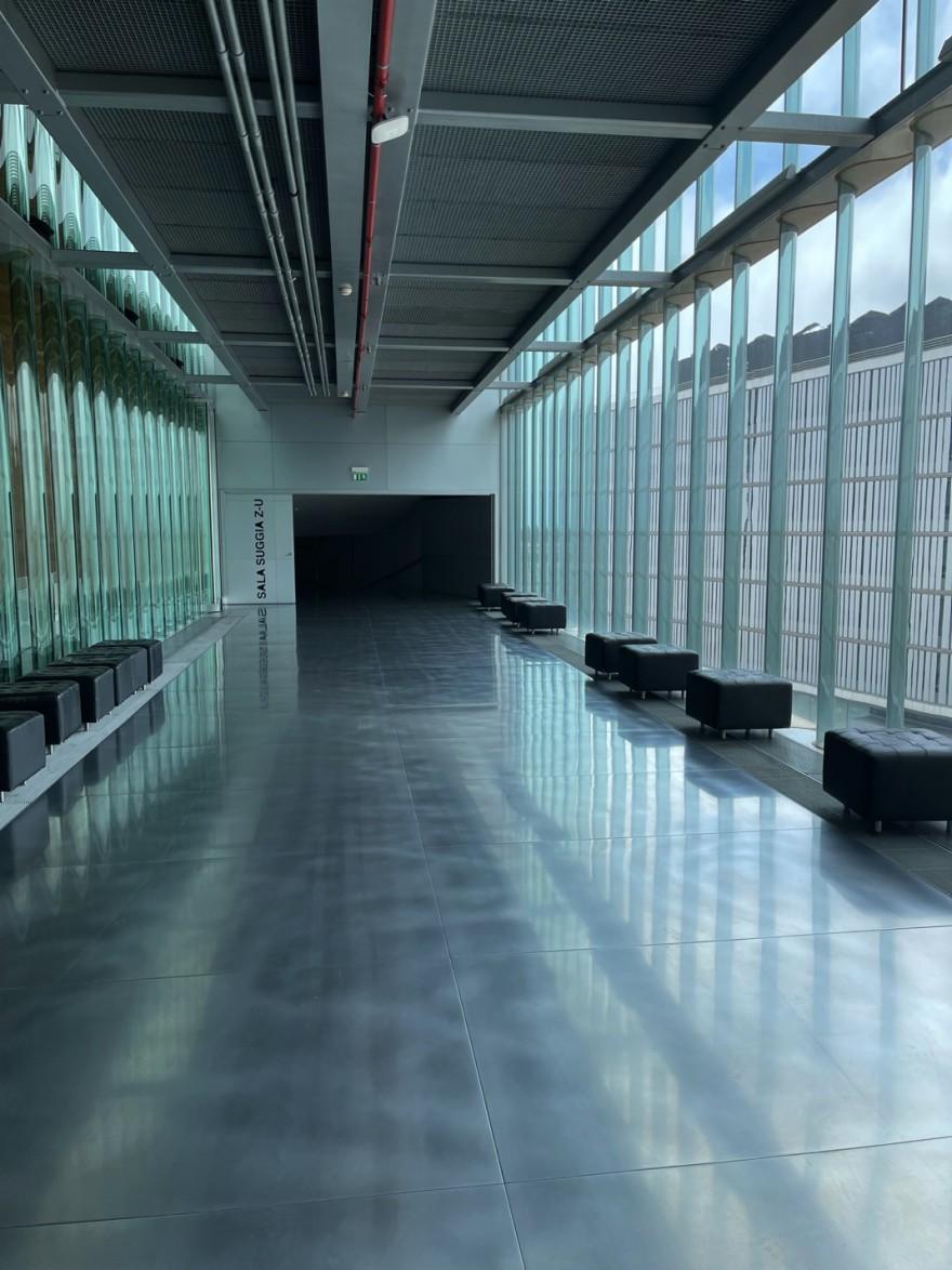 Ruimte achter de grote zaal: architectuur op zijn best