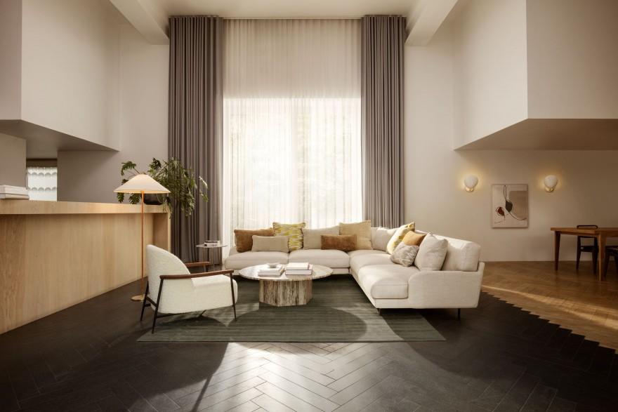 De SEJOUR lounge in combinatie met de FLANEUR sofa