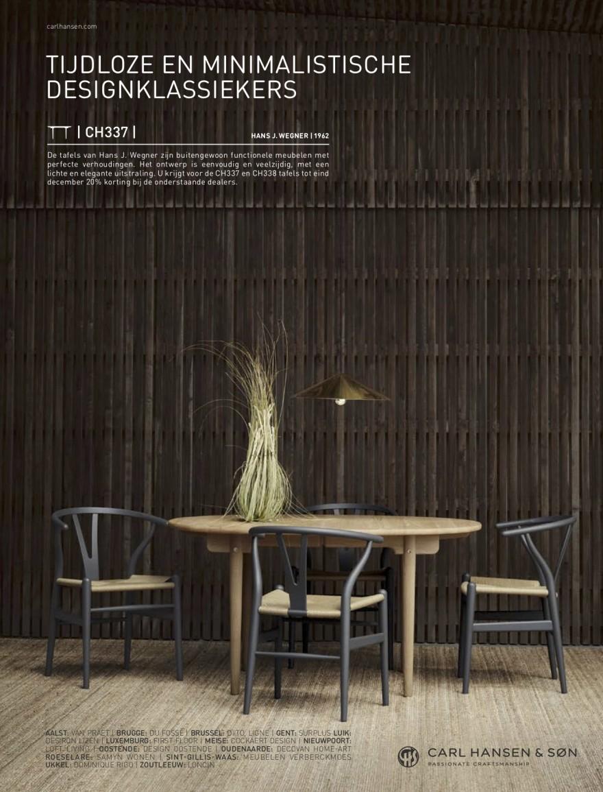 Advertentie tafelcampagne in Feeling Wonen, met lijst deelnemende partners
