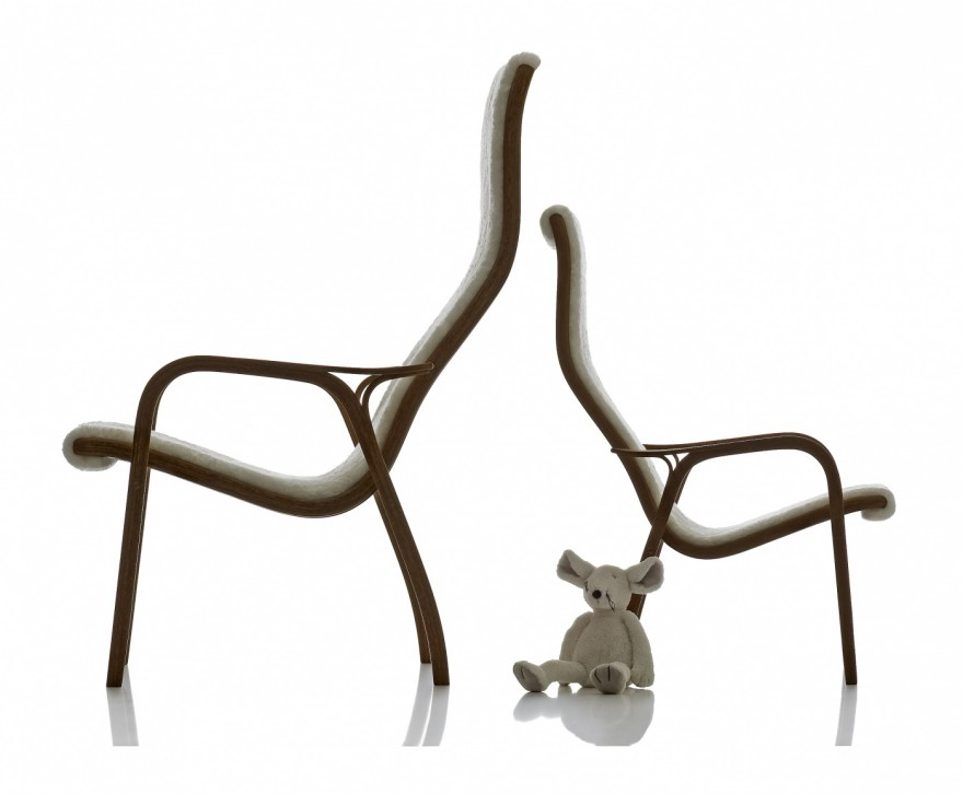 Historische lounge chairs (design 1957) uit de Swedese collectie: Lamino & Lamini