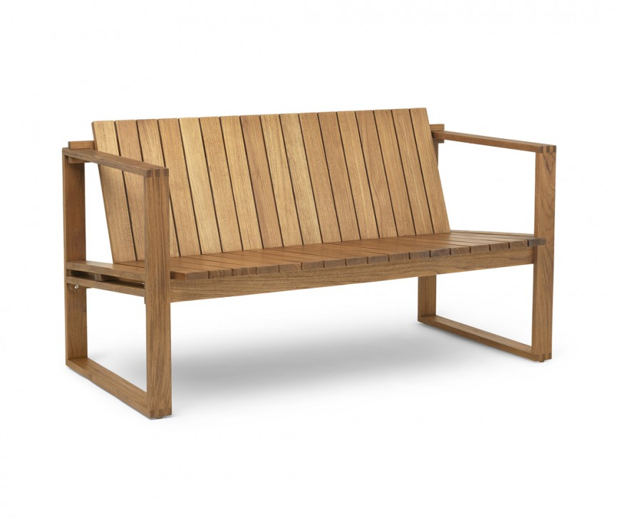 Massief houten zitbank in FSC- gertifieerde teak