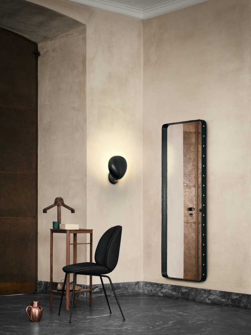 Adnet Wall mirror - 70 x 180 cm - Black