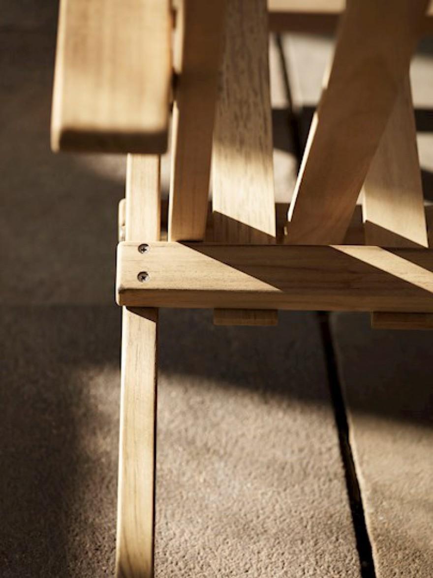 Detail van de Deck Series: gemaakt met FSC gecertifieerde teak