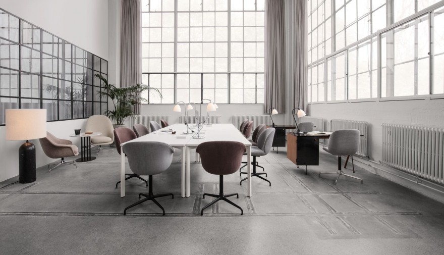 BAT Meeting chair volledig gestoffeerd met 4-ster voet