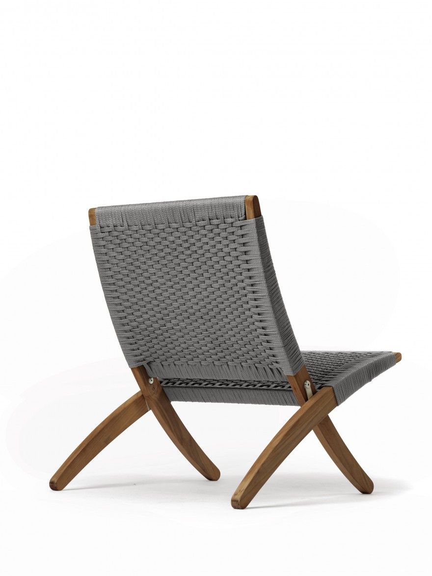 Schuin zijzicht Cuba outdoor chair: mooi langs alle kanten