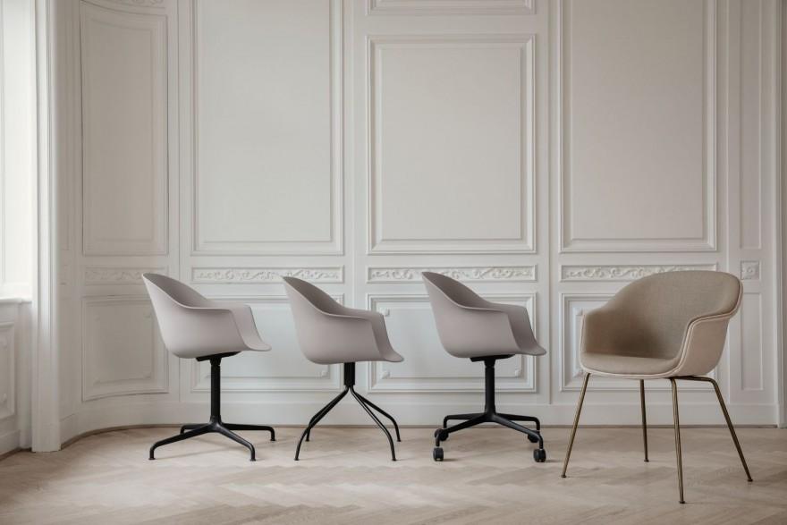 BAT dining chairs met meerdere onderstellen