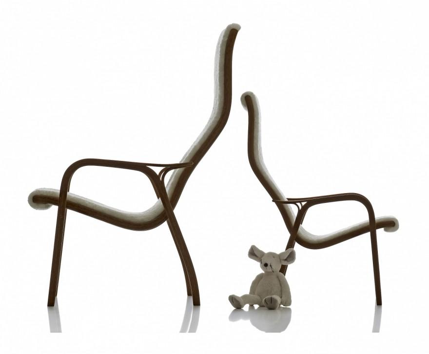Lamono en Laminet met schapenvel: historisch relevant design