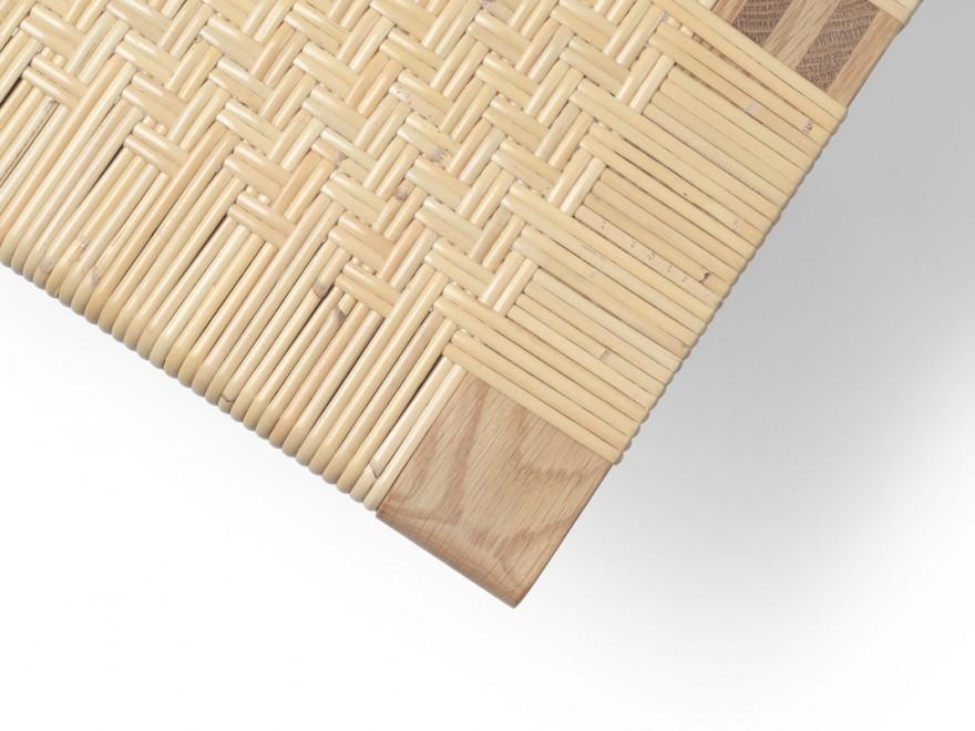 Detail van de (dubbele) weaving op de hoek