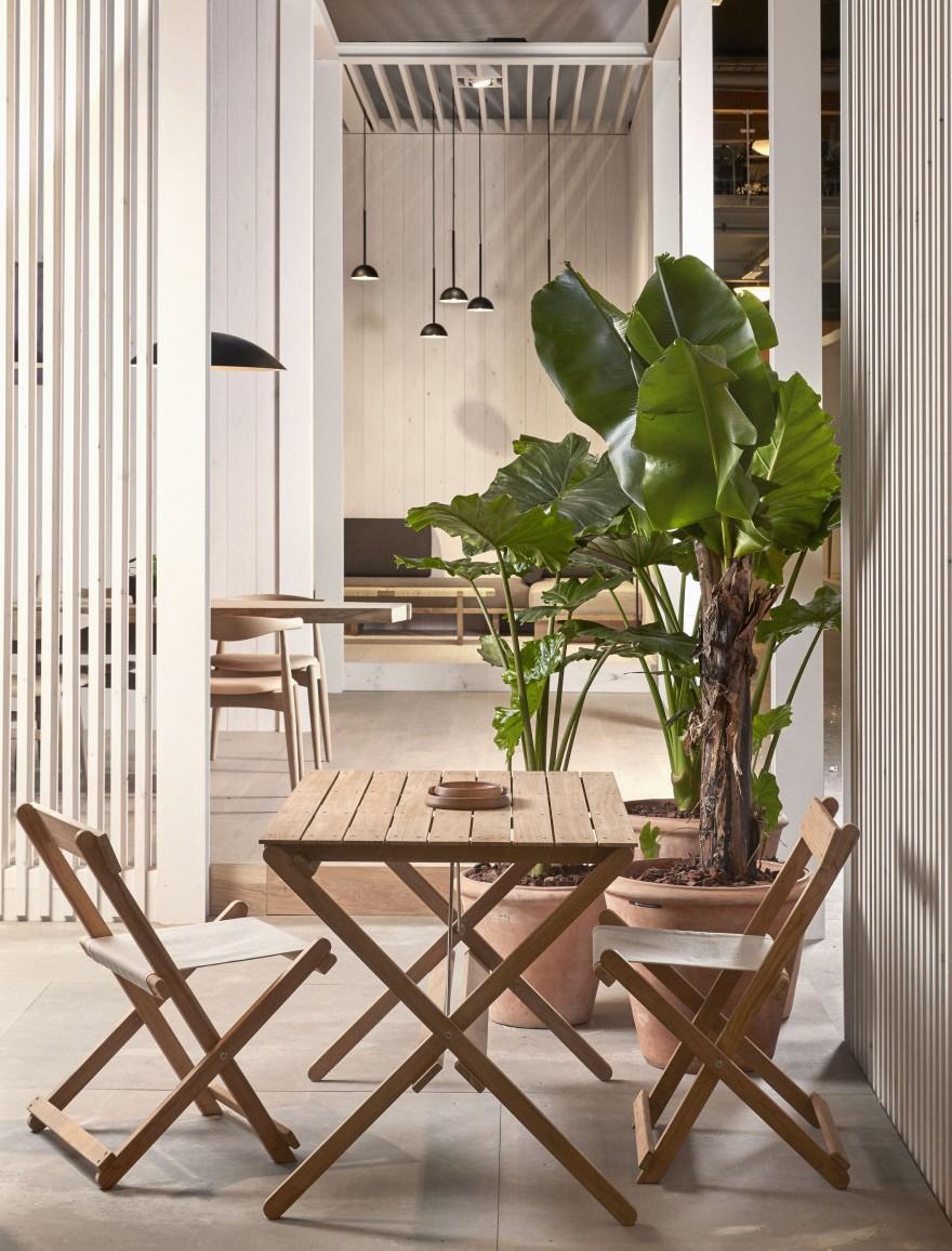 Gamme d'extérieur Borge Mogensen pour les petites terrasses (urbaines): pliables