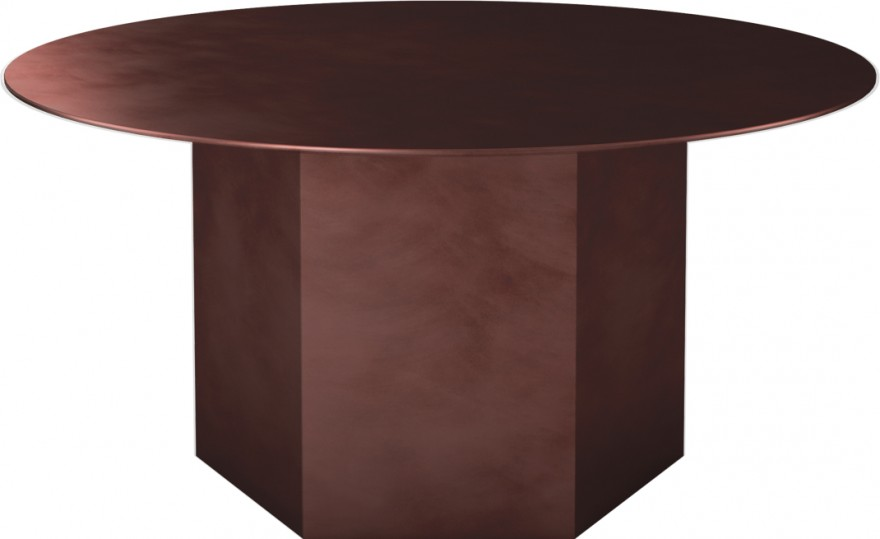Epic stalen tafel in Earthy Red